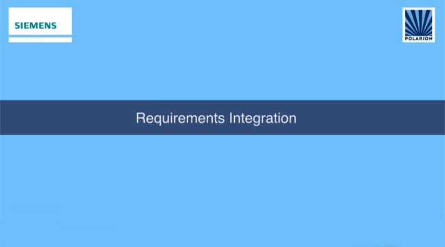 Requirements Integration