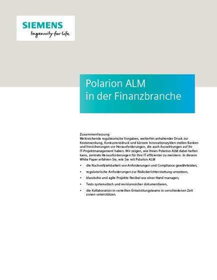 Polarion ALM in der Finanzbranche