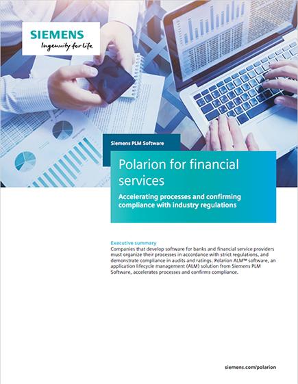 Polarion for financial services