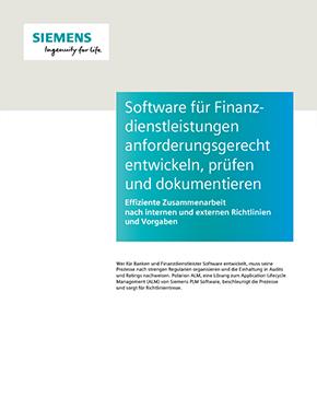 Software für Finanzdienstleistungen anforderungsgerecht entwickeln, prüfen und dokumentieren