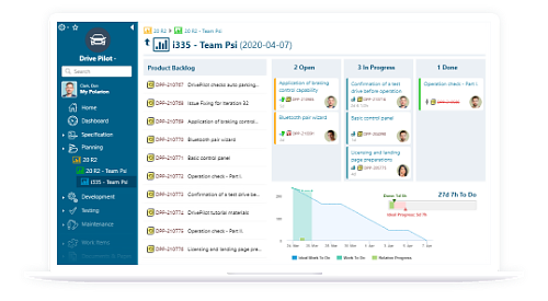 Polarion ALM UI Agile KanBan Board - Software Lifecycle under Control